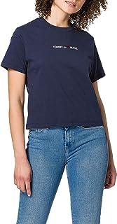 Tommy Hilfiger Tjw Bxy Crop Linear Logo Tee T-Shirt Donna