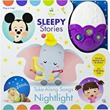 Disney Baby Mickey Mouse, Dumbo, and More! - Sleepy Stories Take-Along Songs Nightlight Sound Book - PI Kids