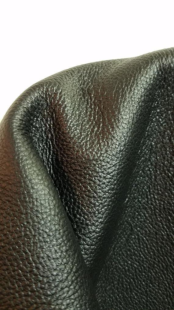 Black Fullgrain Pebble Grain Cowhide Leather 16 to 18 sq.ft Hide 2.5 oz NAT Leathers (28