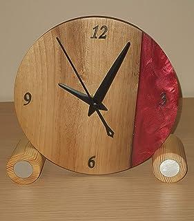 Reloj de sobremesa minimalista. 15 cm
