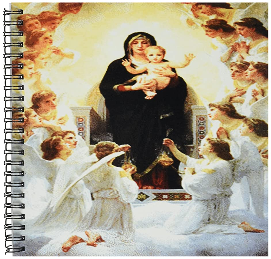 3dRose db_174232_1 Image of Virgin Mary with Angels Painting-Drawing Book, 8 by 8-Inch