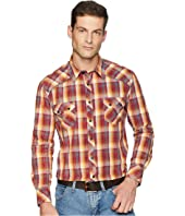 Long Sleeve Snap Plaid B2S6035