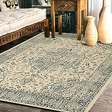 "Rugsville Naji Ivory Oriental Persian Carpet 5'4"" x 7'7"""