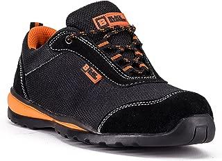 Zapatillas de Seguridad ultraligeras con Puntera de Acero y Entresuela de Kevlar. Ideales para el Trabajo y con protección en el Tobillo. Modelo 4444 S1P SRC