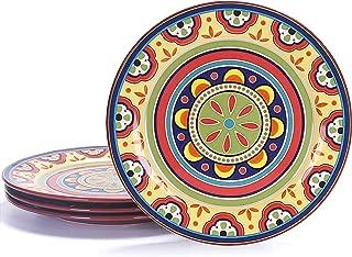 Bico Tunisian Ceramic 11 inch Dinner Plates Set of 4, for Pasta, Salad, Maincourse, Microwave & Dishwasher Safe