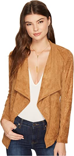 BB Dakota - Wade Faux Suede Drape Jacket