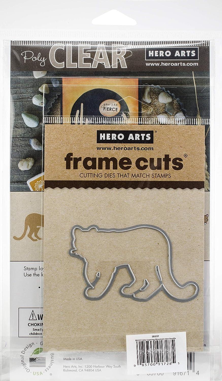 Hero Arts Color Layering, Stamps Cutting Dies Color Cubes Bundle, Mountain Lion