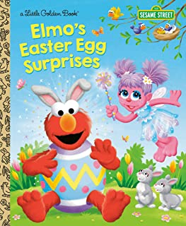 Elmo's Easter Egg Surprises (Sesame Street) (Little Golden Book)