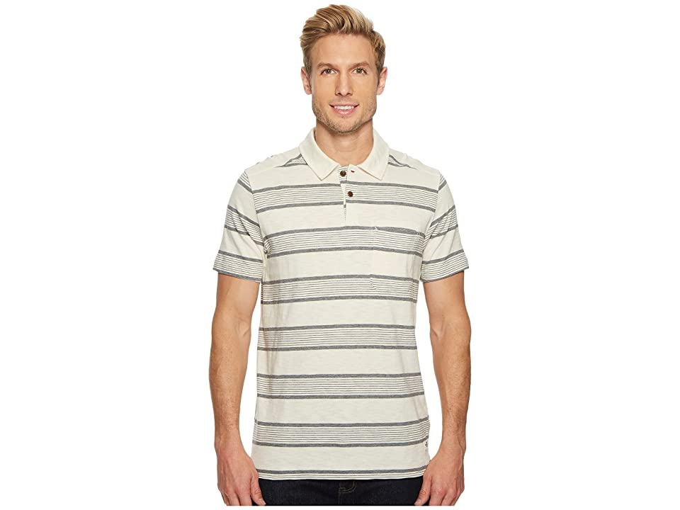 The North Face Short Sleeve Cool Canyon Polo (Vintage White Stripe) Men