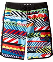 VISSLA Kids - Woodside Four-Way Stretch Boardshorts 17