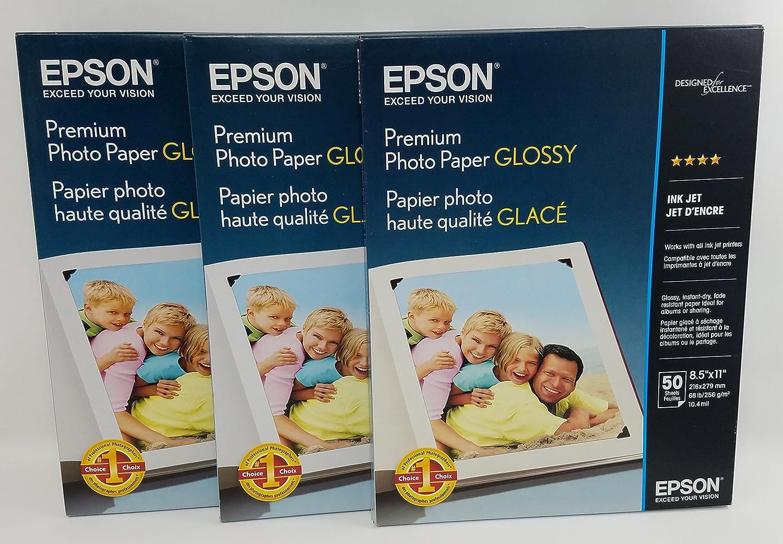 Epson Premium Photo Paper Max 44% OFF GLOSSY Inches Max 74% OFF Sh 8.5x11 S041667 50