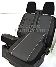 VW TRANSPORTER T5  T30 T32 TAILORED VAN SEAT COVER BLACK CLOTH  QUILTED STITCH