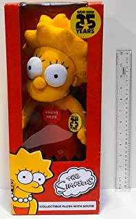 Simpsons Lisa 25th Anniversary Collectible Plush with Sound