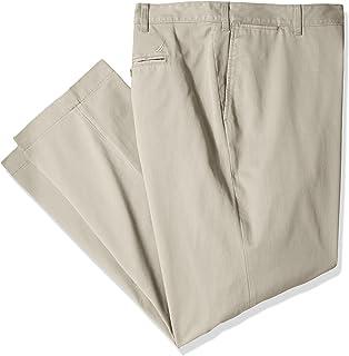 سروال رجالي من نوتيكا كبير وطويل من نسيج قطني مسطح من الأمام