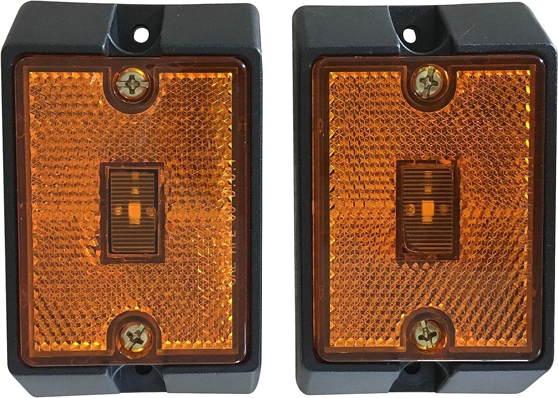 MAXXHAUL Overseas parallel import Sacramento Mall regular item 80745 Side Marker LED 2 Amber - Pack Light