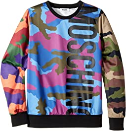 Moschino Kids - Long Sleeve Camouflage Logo Sweat Top (Big Kids)