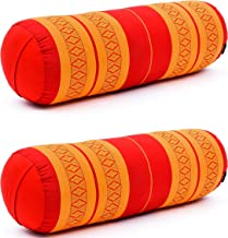 65x25x25 cm Kapok Leewadee 2 Pi/èces Rouleau Pilates Bolster De Yoga Traversin De Yoga Produit Naturel Et /Écologique