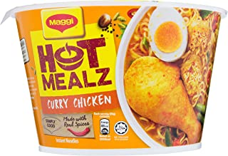 Maggi Hot Mealz Bowl Noodles, Curry Chicken, 99g