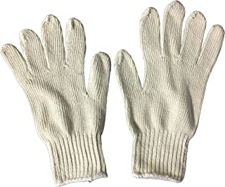 Blank Beige Cotton Throwaway Glove 6 Pack (6 pairs)