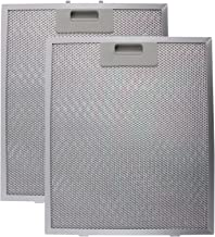 SPARES2GO Universal Cooker Hood Metal Grease Filter (Silver, 320 x 260mm) (Pack of 2)