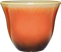 """Honeysuckle Planter, Patio Pot, 13"""" Tequila Sunrise"""