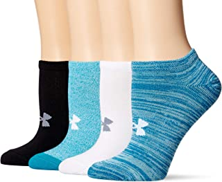 Under Armour Women's Essential No Show Socks, 4-Pairs