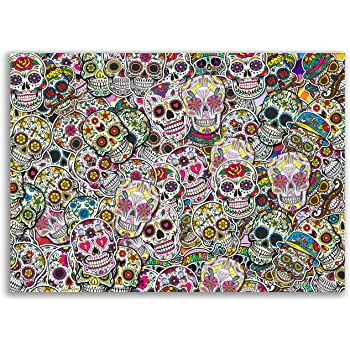 Sticker Bomb Sheet Sugar Skull Vinyl Wrap Car Bike Scooter Laptop Skate #10880