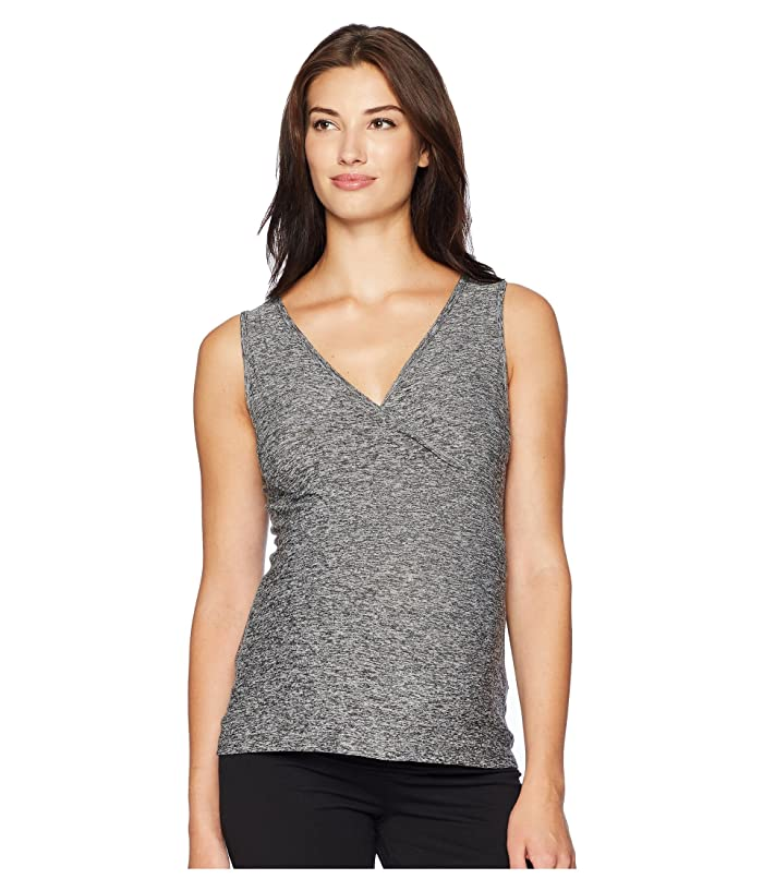 Beyond Yoga Nursing Cross-Over Tank Top (Black/White) Women