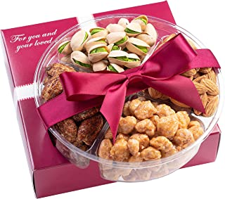 Holiday Nuts Gift Basket - Fresh Sweet & Salty Dry Roasted Gourmet Nuts Gift Basket - Food Gift Basket for Christmas, Than...