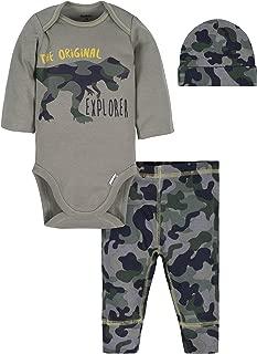 Gerber Baby-Boys 3-Piece Bodysuit, Pant and Cap Set Layette Set