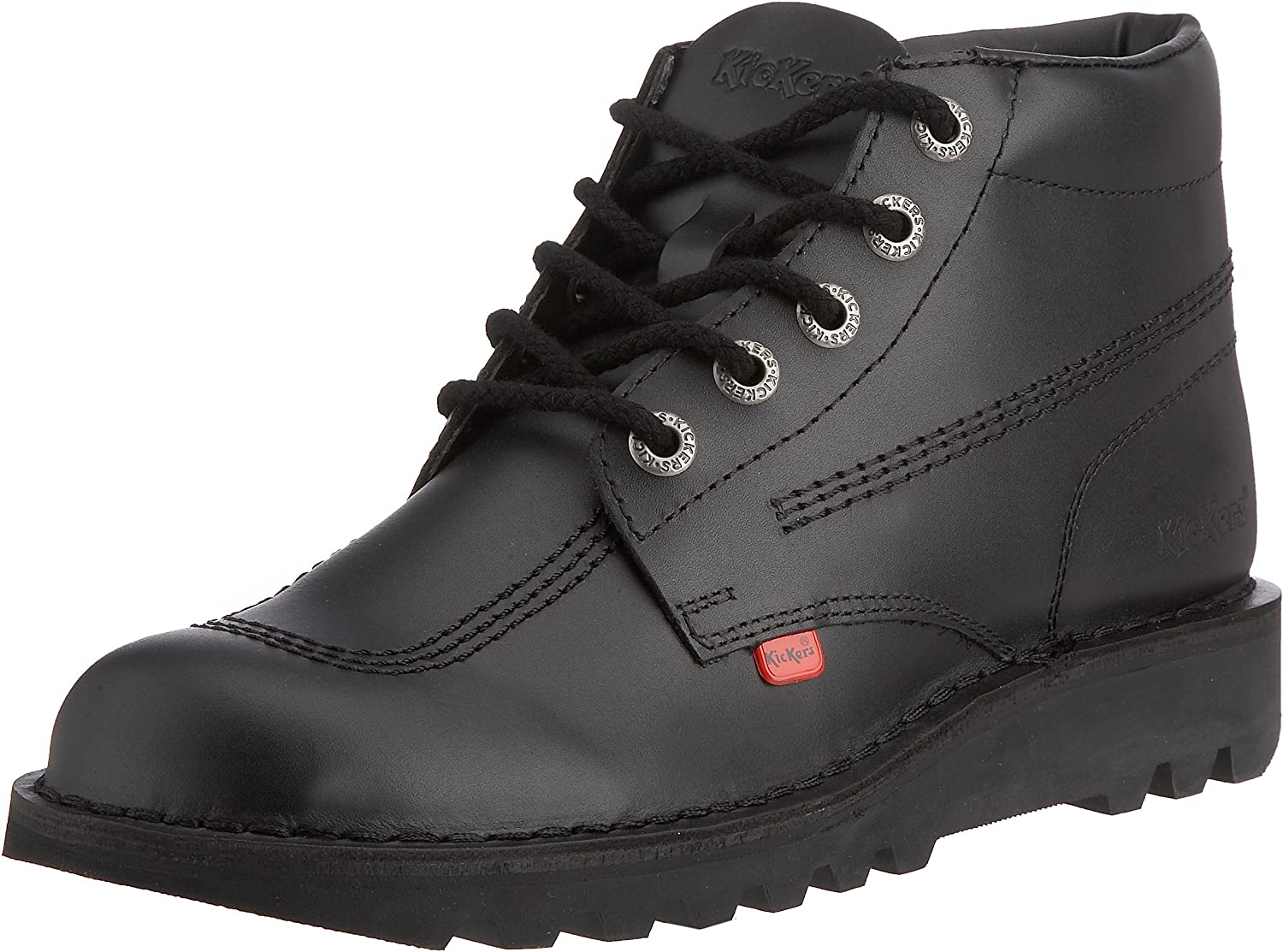 Core Hi Kick Mens Kickers Black Leather EU 45 shoes