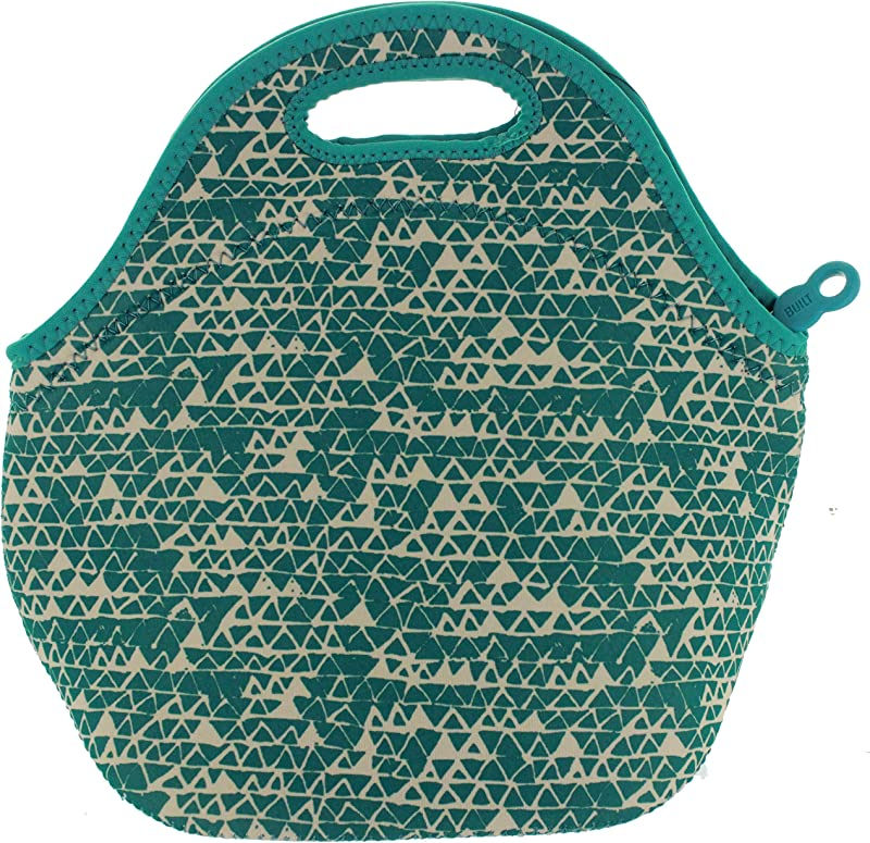 BUILT NY Gourmet Getaway Neoprene Lunch Tote Triangle Candy Teal