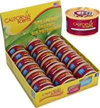 California Scents Spillproof Organic Air Freshener, Concord Cranberry, 1.5 Ounce Canister (Pack of 18)