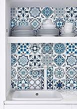 Papel de contato azul Timeet 45 cm x 299 cm Superfície brilhante espessa à prova d'água papel de contato decorativo autoad...