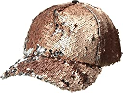 Steve Madden - Double Take Flip Sequin Baseball Cap