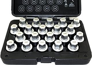 TEMO 20 piece Wheel Lock Lugnut Anti-Theft Screw Lug Nut Removal Key Socket Set for VW AUDI VAG Volkswagen
