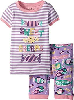 Hatley Kids Kitty Candy Short Pajama Set (Toddler/Little Kids/Big Kids)
