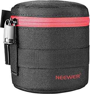 Neewer Padded Cylindrical Lens Pouch Case Bag for 18-55 mm Camera Lens, such as Canon 50-1.4 50-1.8 85-1.8 18-55 35-2, Nik...