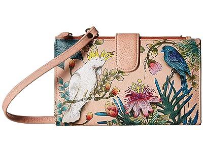 Anuschka Handbags 1113 Large Smartphone Case Wallet (Cockatoo Sunrise) Handbags