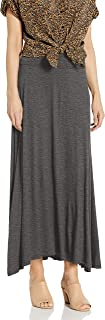 AGB Women's Soft Knit Maxi Skirt (Petite and Standard Sizes)