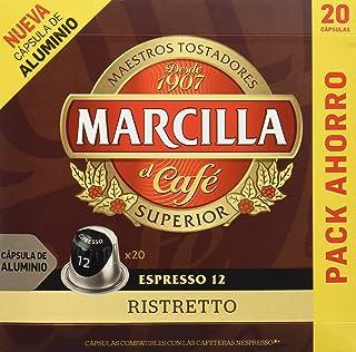 MARCILLA Café Espresso Ristretto Intensidad 12 - 20 Cá