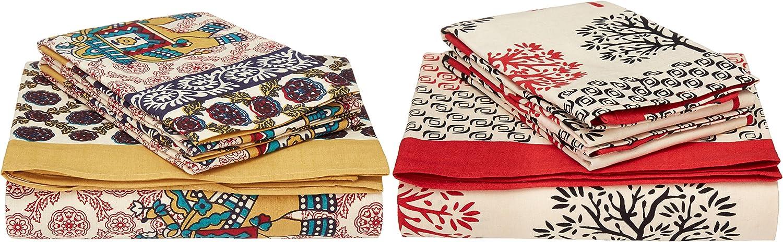 Traditional mafia RSES655502 Combo Bed Sheet Set, Multicolor, 90  x 108