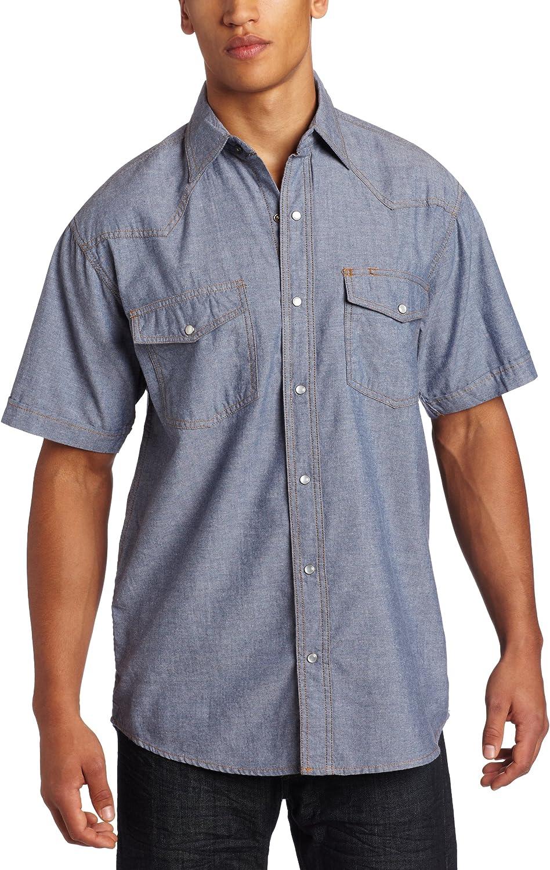 Dapperboi Button down chambray collar short Sleeved Knit Shirt 1 black /& 1 grey