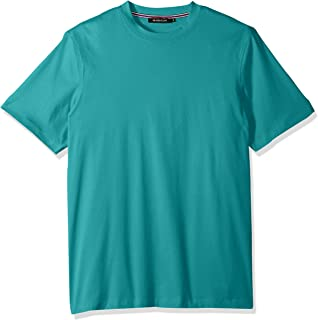 Bugatchi Mens JCF2599F54 Lightweight Cotton Short Sleeve Crew Short Sleeve Shirt