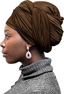 TheHijabStore.com Premium Stretch Cotton Jersey Head Scarf For Women Long Soft African Headwraps