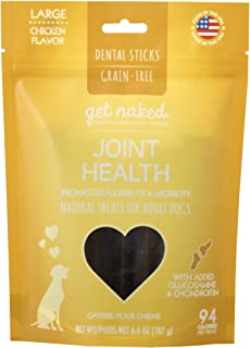 Get Naked Grain Free 1 Pouch 6.6 Oz Joint Health Dental Chew Sticks, Large