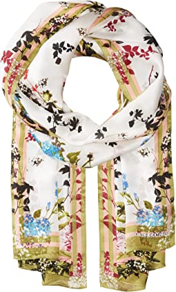 Vince Camuto - Shadow Blossoms Silk Oblong
