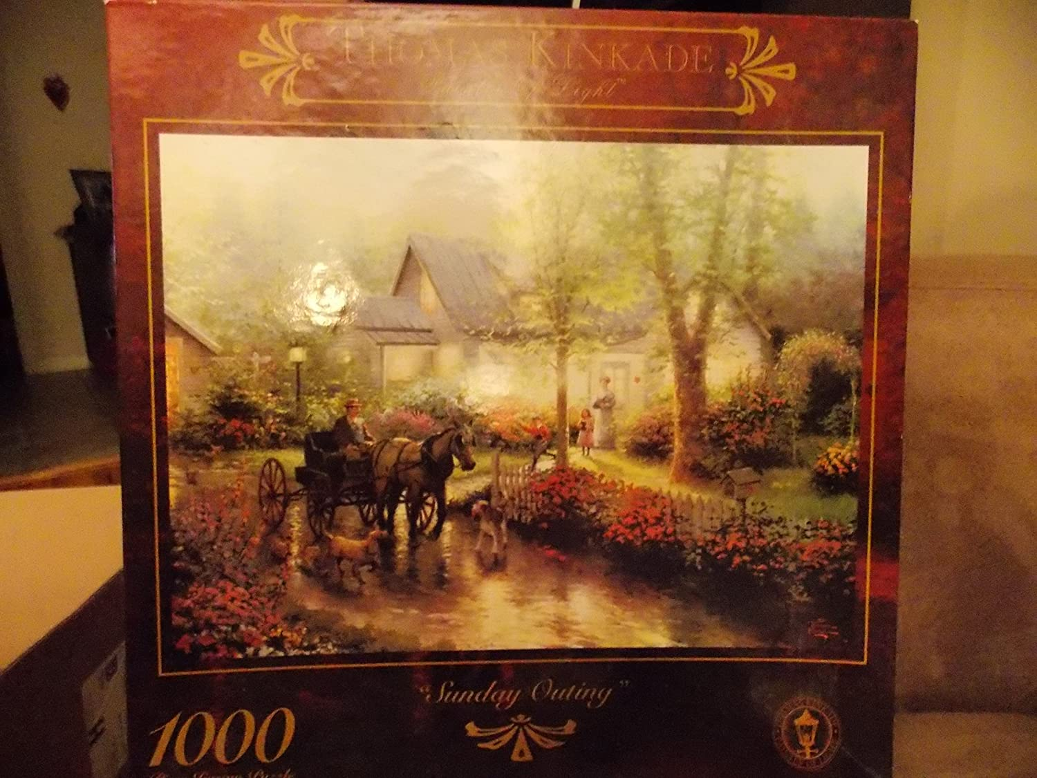 Sunday Outing 1000 Piece Thomas Kinkade Puzzle