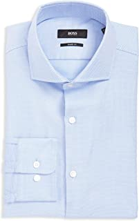 BOSS Mark Slim Fit Cotton Dress Shirt by BOSS