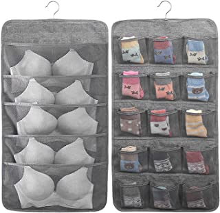 MaoXinTek Organisateur de Rangement Suspendu Sac pour Chaussettes sous-vêtements Cravates de Soutien-Gorge, Penderie Placa...